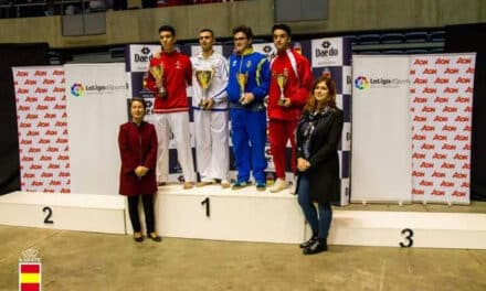 Los ganadores en Kumite Masculino en la primera prueba de la Liga Nacional de Kárate: Babacar y J. Rafael Ibáñez ya comandan en su categoría.