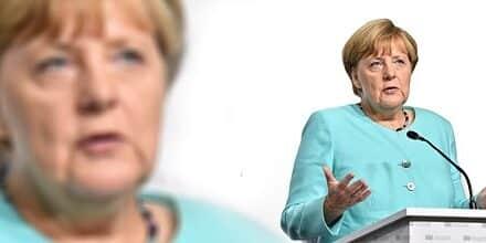 """Merkel ve """"problemática"""" la suspensión de las cuentas de Trump en redes sociales"""