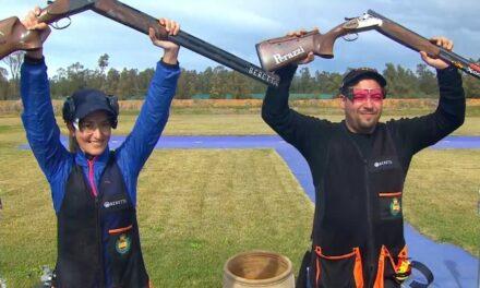 ¡ORO en TRAP mixto! . Fátima y Alberto dan a España, la 5ª medalla en el Grand Prix de Rabat.