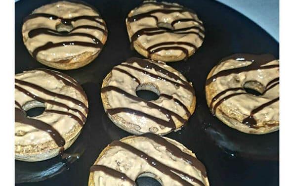 Rosquillas de crema de cacahuete