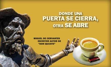 Miguel de Cervantes, La frase positiva del día. Sobrecito de azúcar