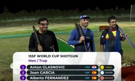 Joan García y Alberto Fernández, Plata y Bronce en la final masculina de Foso Olímpico