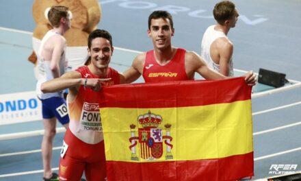 Jesús Gómez e Ignacio Fontes, Plata y Bronce en 1500 metros en el europeo de pista cubierta de Polonia.