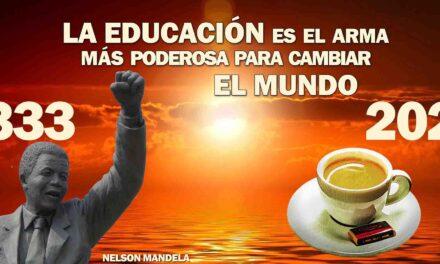 """""""La Educación es el arma más poderosa para cambiar el mundo"""". La frase positiva del día. Sobrecito de azúcar"""