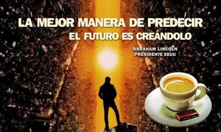 """""""La mejor manera de predecir el futuro es creándolo"""". La frase positiva del día. Sobrecito de azúcar"""