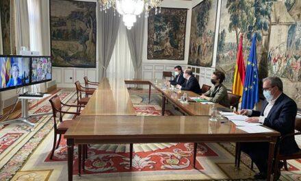 Miquel Iceta mantiene una reunión telemática con los delegados y delegadas del Gobierno